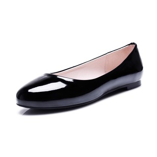 Others Flats Pumps Patent Leather Flat Heel Shoes