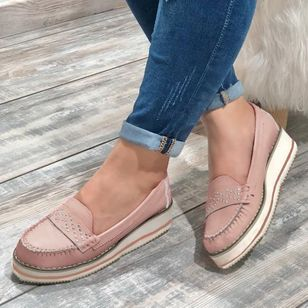 Women's Hollow-out Round Toe Flat Heel Flats (1522350)