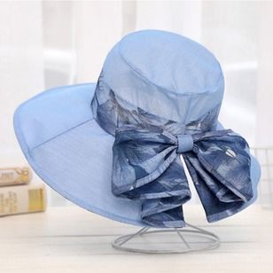 Polyester Bow Floral Hats