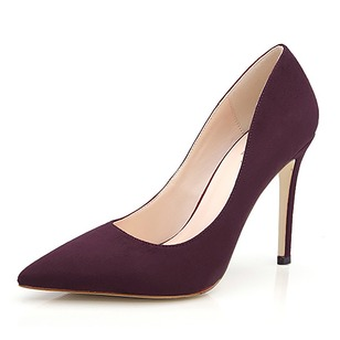 Women's Pumps Closed Toe Heels Stiletto Heel Suede Shoes