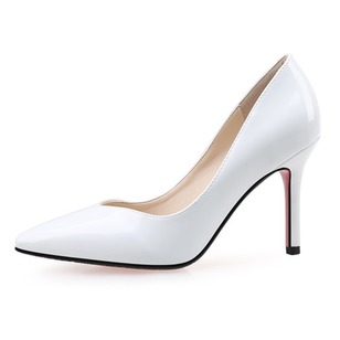 Women's Pumps Closed Toe Heels Stiletto Heel Patent Leather Shoes