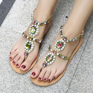 Crystal Flats Flat Heel Shoes
