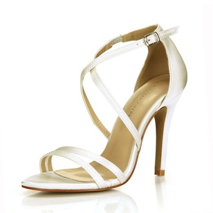 Sandals Heels Satin Stiletto Heel Shoes