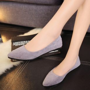 Pointed Toe Flat Heel Shoes