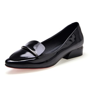 Others Flats Pumps Closed Toe Patent Leather Flat Heel Shoes