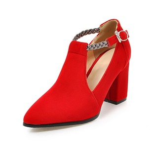 Suede Chunky Heel Shoes