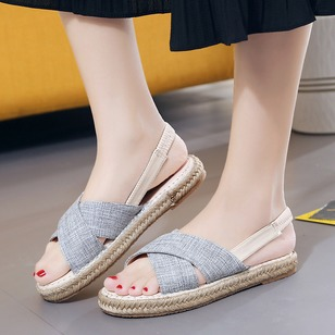 Women's Sandals Flats Flat Heel Fabric Shoes