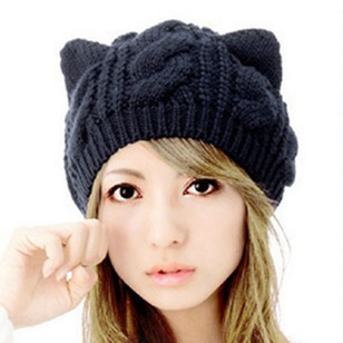 Cute Wool None Solid Hats
