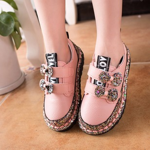 Girls' Sparkling Glitter Magic Tape Outdoor Girls' Shoes