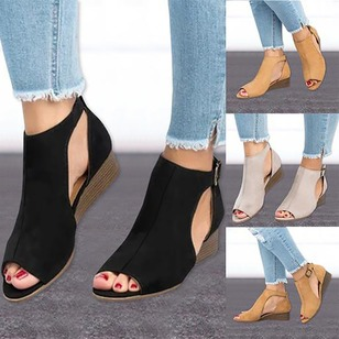 Sandals Nubuck Wedge Heel Shoes