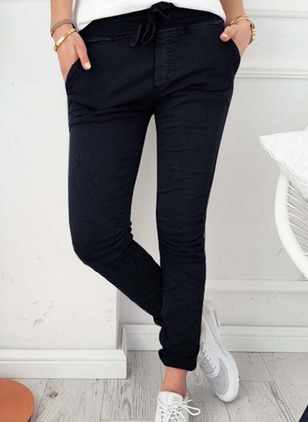 Skinny Cotton Pants Pants & Leggings
