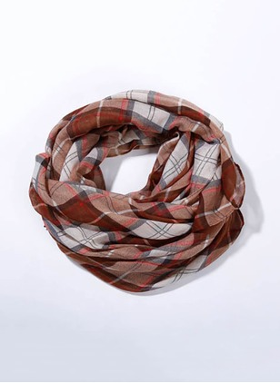 Casual Polyester Tartan Scarves