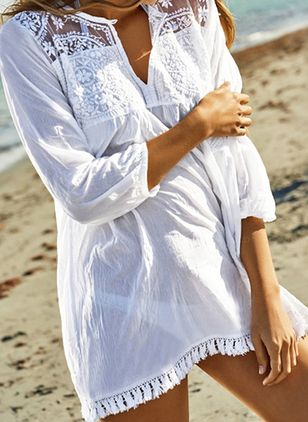 Cotton Tassels Cover-Ups Swimwear (100772891)