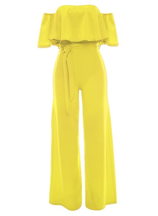Polyester Solid Cap Sleeve Jumpsuits & Rompers