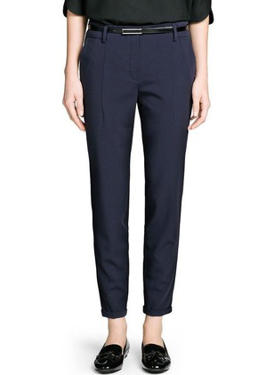 Straight Polyester Trousers Pants & Leggings