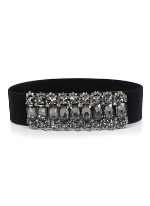 Casual PU Rhinestones Solid Belts
