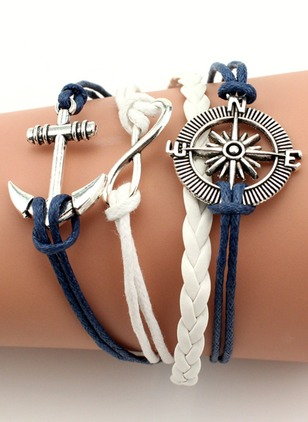 Single Lock No Stone Link Bracelets