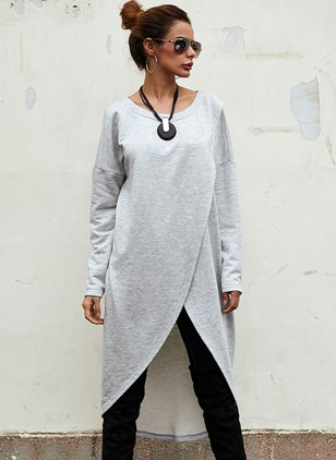 Wool & Wool Blend Long Sleeve Round Neck Coats
