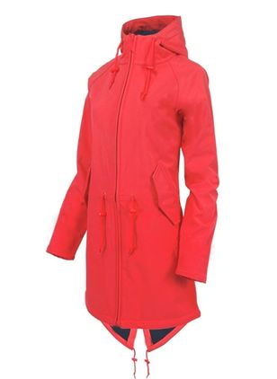 Long Sleeve High Neckline Zipper Pockets Parkas Coats (106942954)