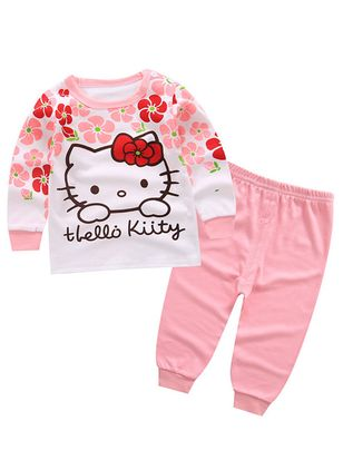 Girls' Cute Cartoon Sports Long Sleeve Clothing Sets