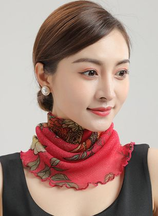 Casual Floral Scarves (100772456)