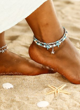 Casual No Stone Ball Anklet (1521427)
