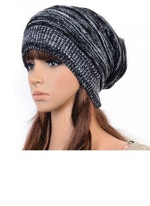 Casual Wool None Stripe Hats