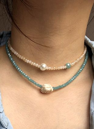 Casual Round Pearls Chokers (6211635)