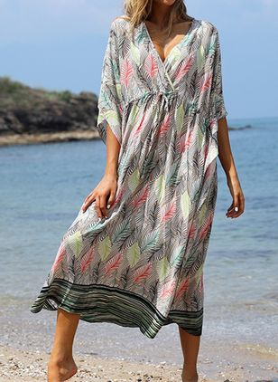 Cotton Floral Cover-Ups Swimwear (111607845)