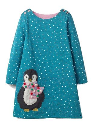 Girls' Cute Polka Dot Daily Long Sleeve Dresses