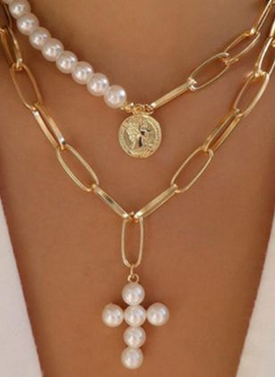 Casual Ball Pearls Pendant Necklaces (1540466)