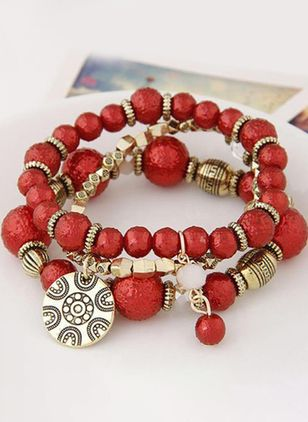 Casual Ball No Stone Beaded Bracelets (111608271)