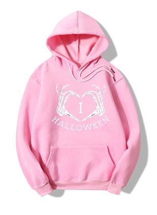 Alfabet Halloween Hooded Fickor Sweatshirtar (107805719)