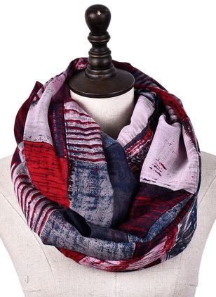 Casual Color Block Scarves (101398921)