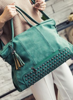 Totes Fashion Tassel Studded Double Handle Bags