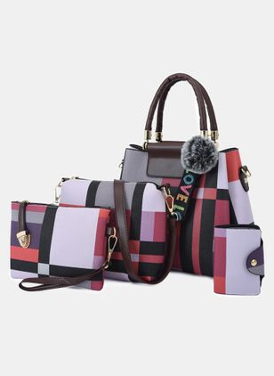 Bag Sets Fashion Zipper Double Handle Bags (4041093)
