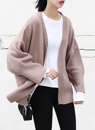 Polyester Long Sleeve Collarless Others Coats Coats