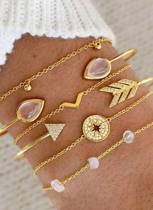 Casual Round Link Bracelets (4456897)