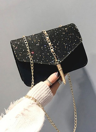 Shoulder PU Tassel Chain Bags