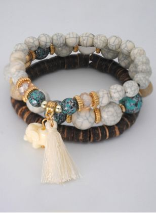 Vintage Ball Crystal Beaded Bracelets (4294279)