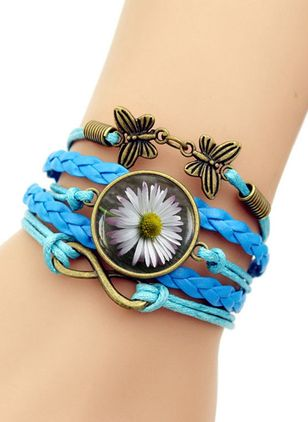 Casual Floral No Stone Bangle Bracelets (6211647)