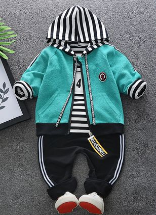 Boys' Cool Stripe Going out Long Sleeve Clothing Sets