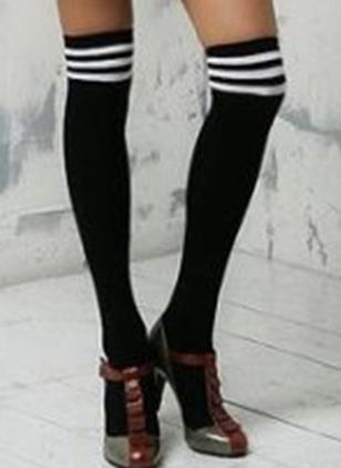 Women's Casual Polyester Stockings & Tights Thigh High Stockings Socks (111853016)