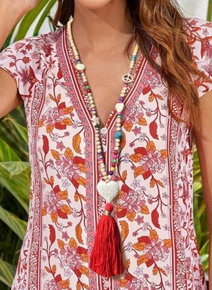 Boho Tassel Heart No Stone Pendant Necklaces (104135146)