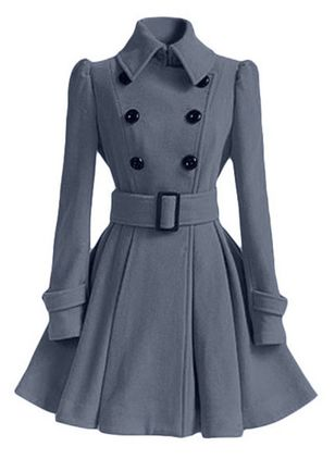 Long Sleeve Collar Sashes Buttons Trench Coats