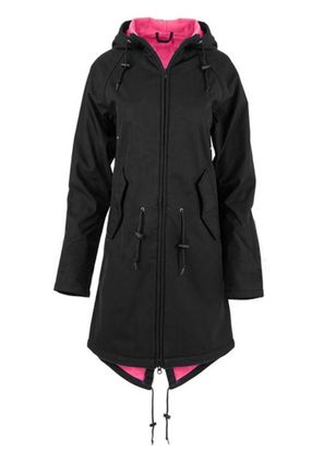 Long Sleeve Hooded Zipper Pockets Coats (1366668)