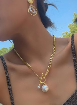 Elegant Ball Pearls Pendant Necklaces (5501772)
