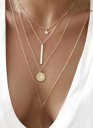 Casual Star No Stone Pendant Necklaces (1311334)