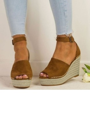 Buckle Wedge Heel Shoes (1226427)
