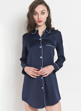 Polyester Collar Pajamas